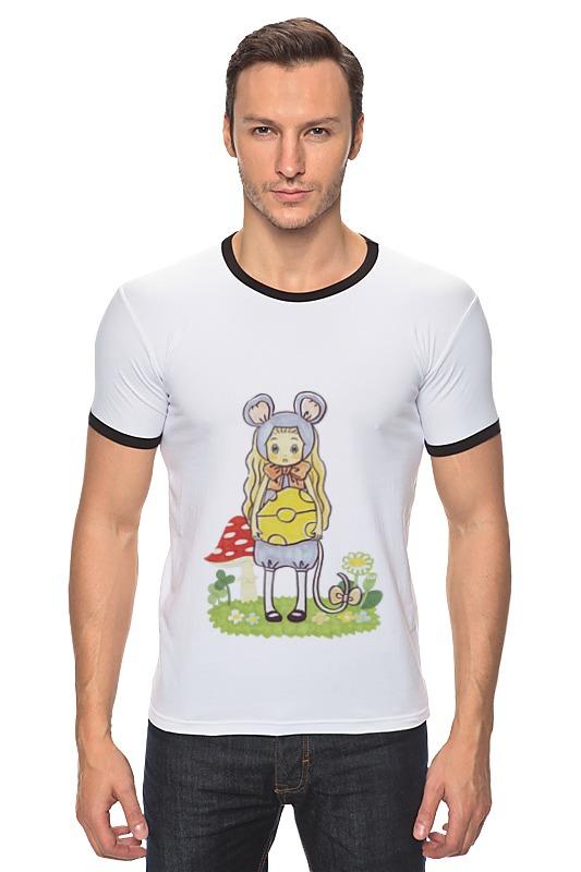 Футболка Рингер Printio Мёд и клевер форма для аппликаций и фильцевания clover клевер и кролик