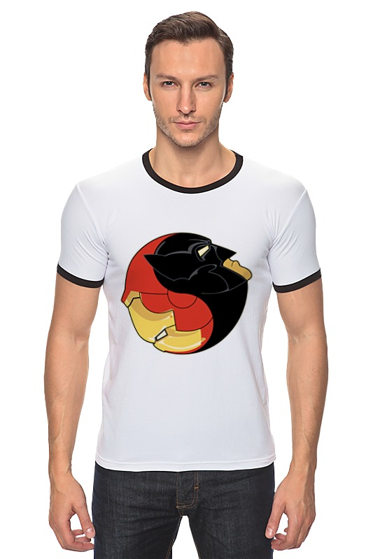 Футболка Рингер Printio Batman x iron man футболка рингер printio ice king x batman