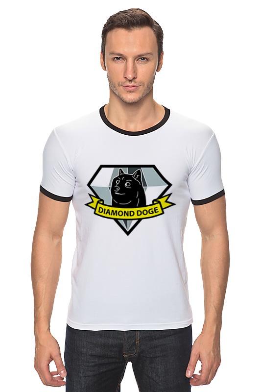 Футболка Рингер Printio Diamond doge (metal gear solid)