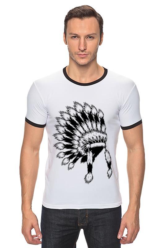 Футболка Рингер Printio Индеец футболка рингер printio черно белый питер
