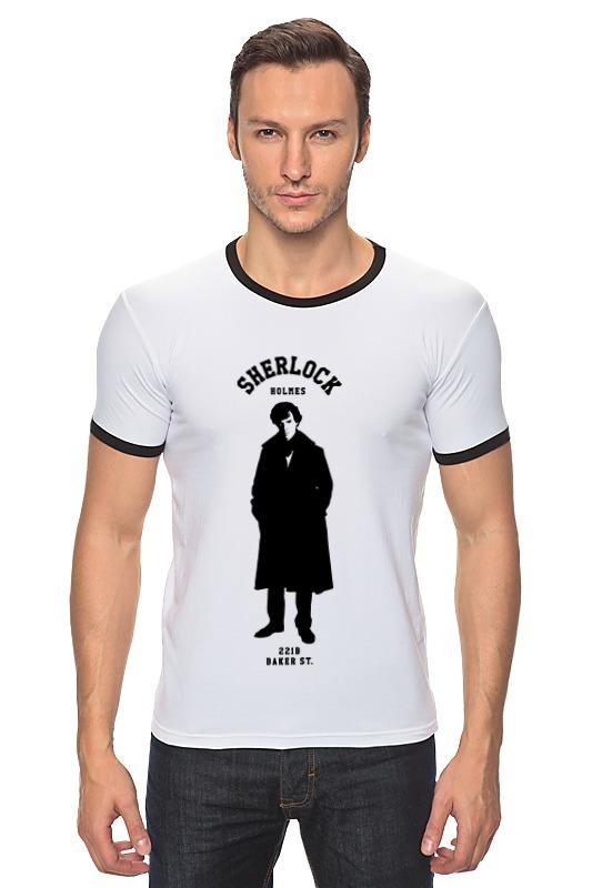 Футболка Рингер Printio Шерлок холмс (sherlock holmes) лонгслив printio шерлок холмс sherlock holmes