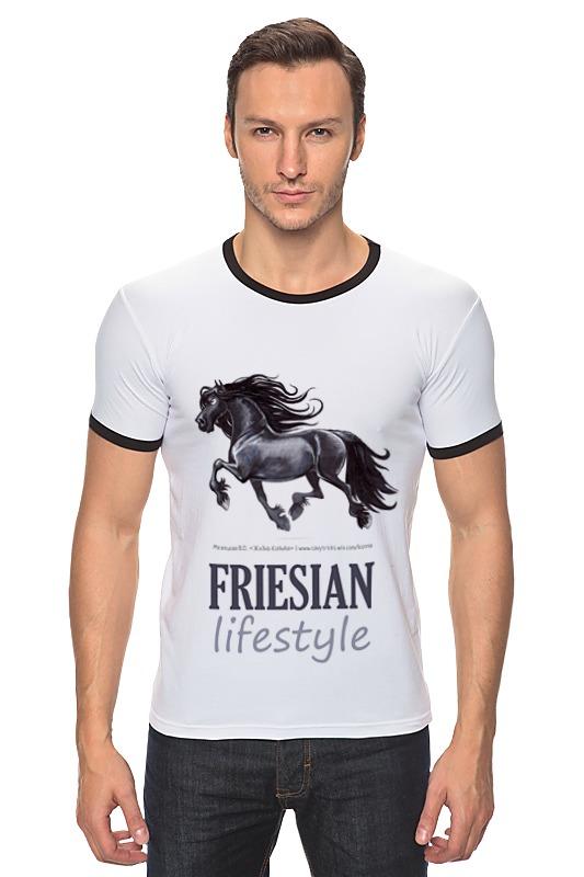 Футболка Рингер Printio Friesian lifestyle купить щебень на севере москвы