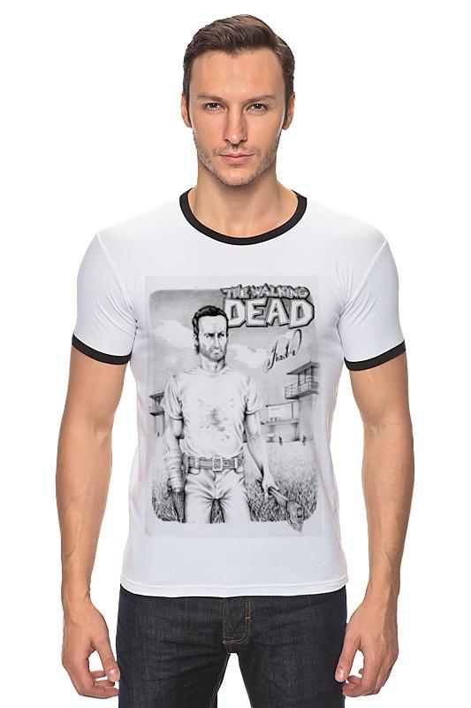 Футболка Рингер Printio The walking dead bringing up the dead