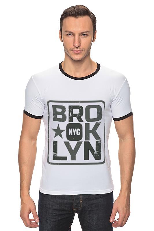 Футболка Рингер Printio Brooklyn found in brooklyn