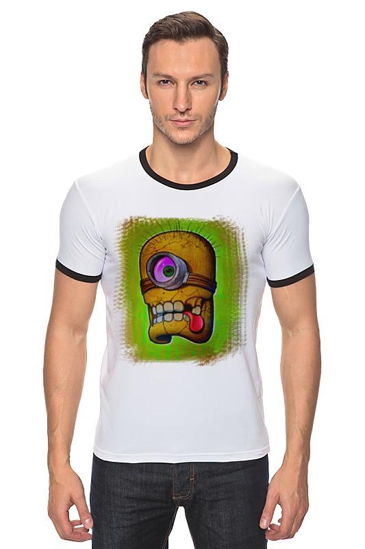 Футболка Рингер Printio Skull minion