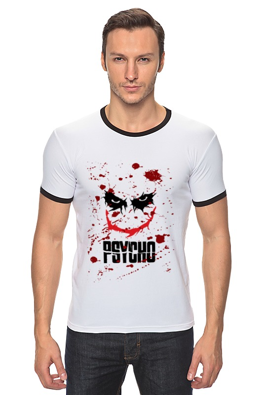 Футболка Рингер Printio Джокер (psycho) psycho psycho you love us…you hate us