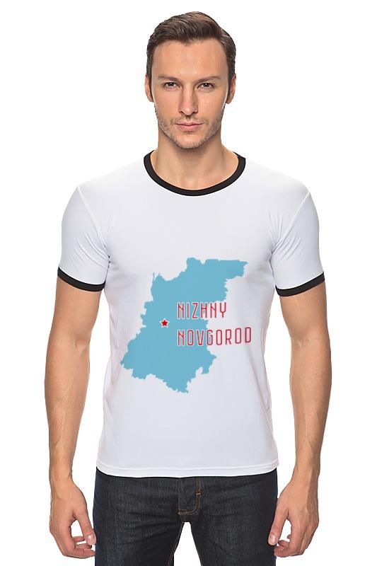 Футболка Рингер Printio Нижегородская область. нижний новгород
