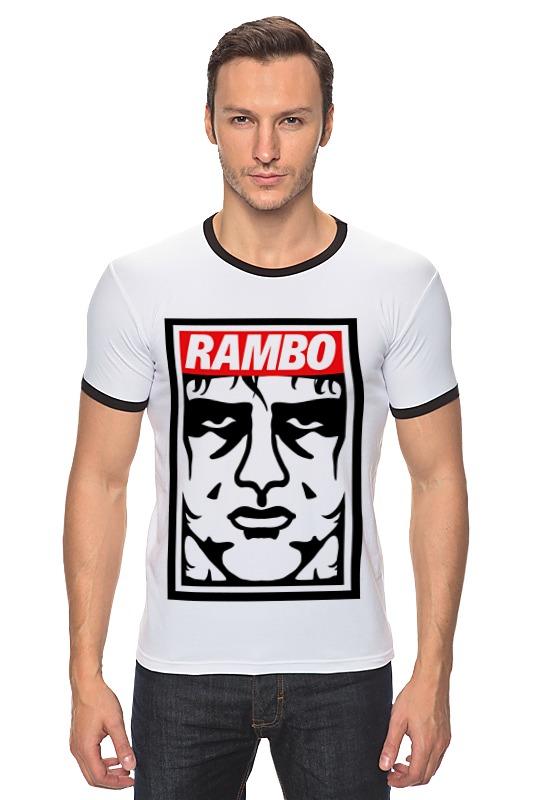 Футболка Рингер Printio Рэмбо (rambo)
