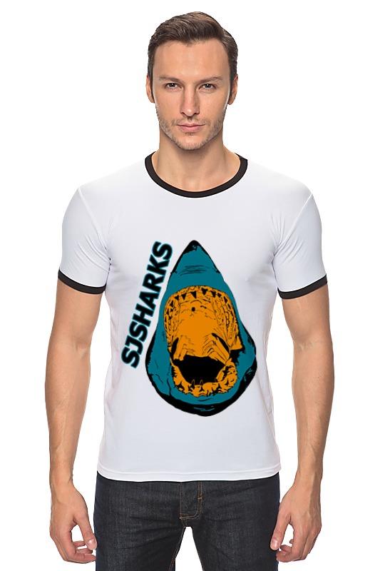 Футболка Рингер Printio San jose sharks сан-хосе шаркс майка классическая printio san jose sharks сан хосе шаркс