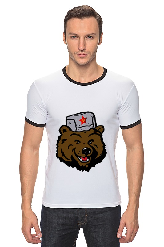 Футболка Рингер Printio Russian bear (русский медведь) лонгслив printio bear beer медведь и мед