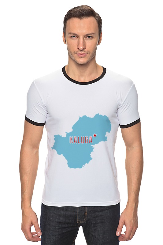 Футболка Рингер Printio Калужская область. калуга калуга купить блендер браун mr 4050 ca