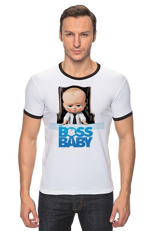 Футболка Рингер Printio Босс-молокосос / the boss baby босс молокосос blu ray 3d