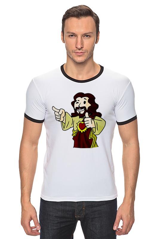 Футболка Рингер Printio Иисус (фэллаут) иисус исцеляет больного пазлы