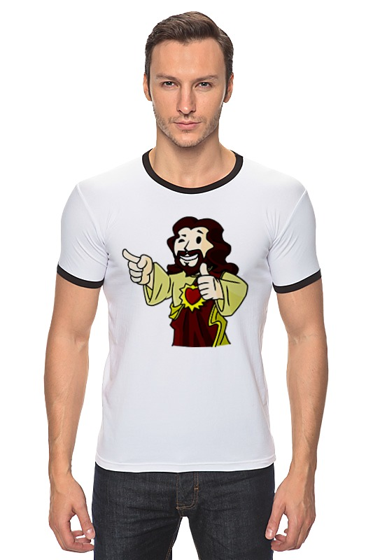 Футболка Рингер Printio Иисус (фэллаут) футболка классическая printio fallout фэллаут