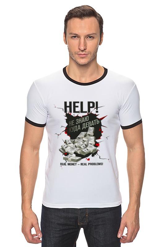 Футболка Рингер Printio Реальные деньги - реальные проблемы! футболка рингер printio война никогда не меняется