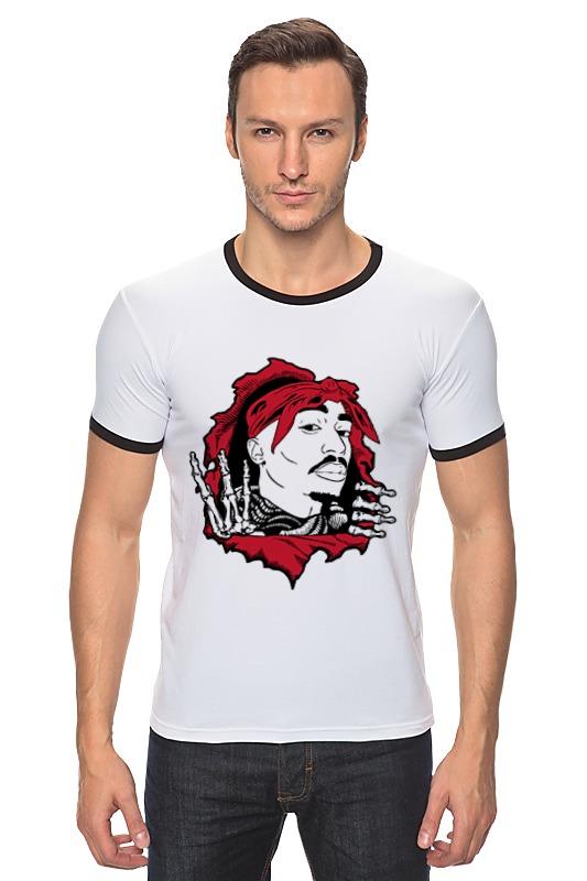 Футболка Рингер Printio Тупак шакур (2pac) футболка wearcraft premium printio 2pac tupac