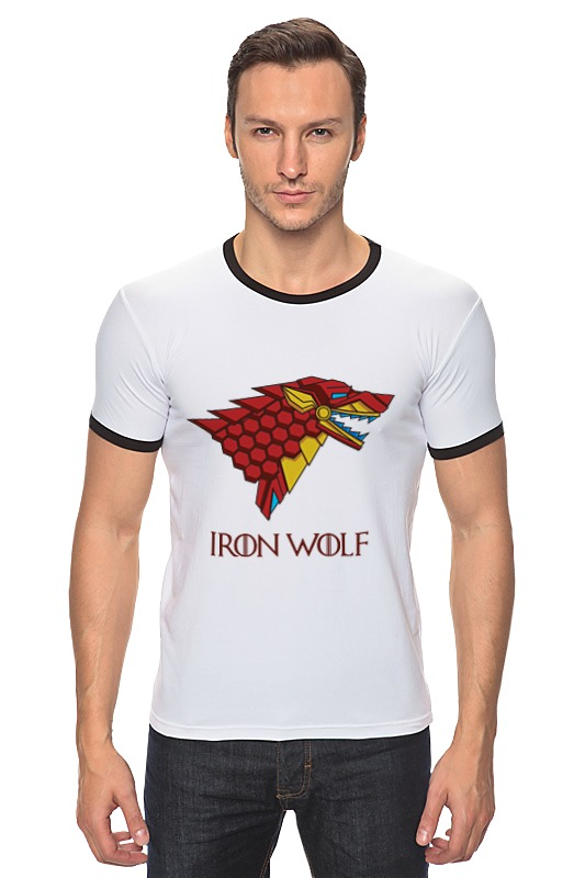 Футболка Рингер Printio Iron wolf (stark x iron man) лонгслив printio iron wolf stark x iron man