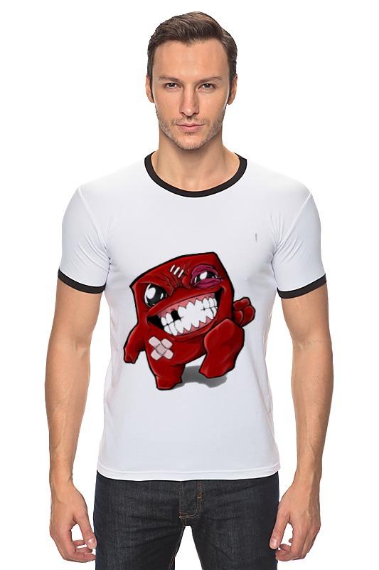 Футболка Рингер Printio Super meat boy