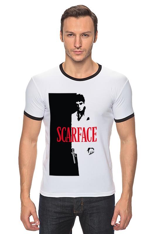 Футболка Рингер Printio Лицо со шрамом (scarface)