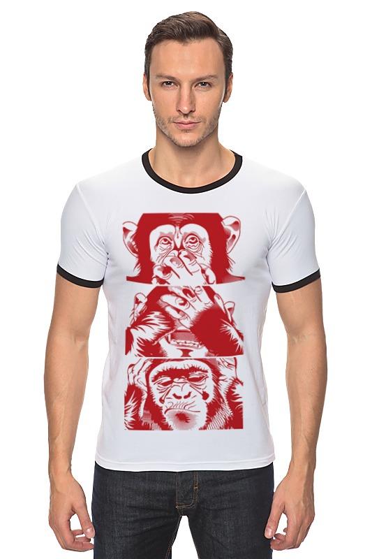 Футболка Рингер Printio Обезьяны футболка рингер printio обезьяны