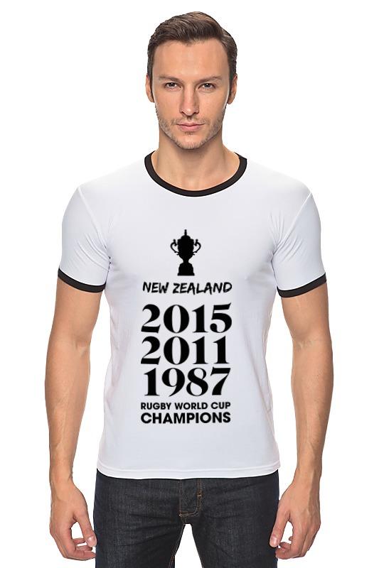 Футболка Рингер Printio Чемпионы регби (новая зеландия) костюм регби