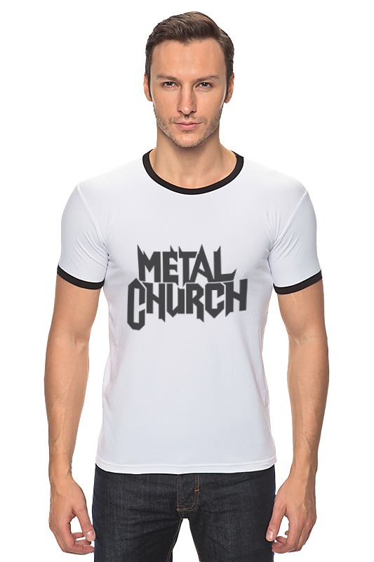 Футболка Рингер Printio Metal church виниловая пластинка metal church metal church