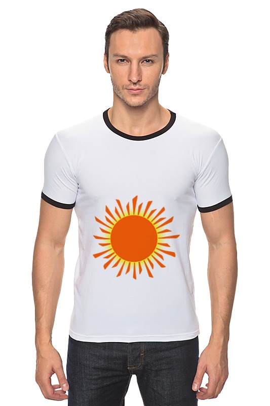 Футболка Рингер Printio Оранжевое солнце футболка wearcraft premium printio оранжевое солнце