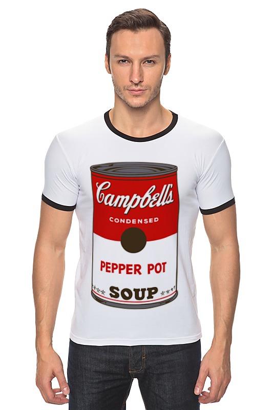 Футболка Рингер Printio Campbell's soup (энди уорхол) футболка wearcraft premium printio campbell s soup энди уорхол