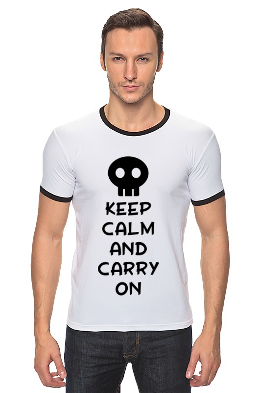 Футболка Рингер Printio Keep calm and carry on футболка wearcraft premium printio keep calm