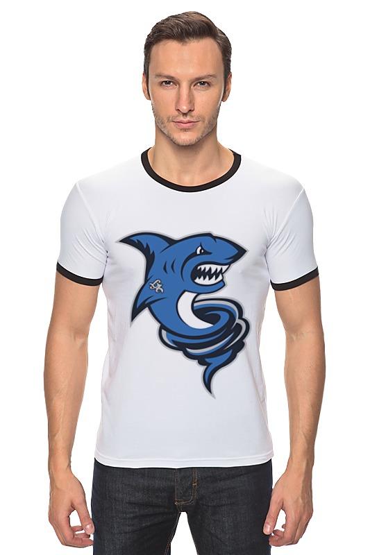 Футболка Рингер Printio Акула футболка рингер printio акула