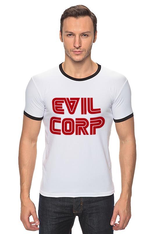 Футболка Рингер Printio Evil corp designs corp