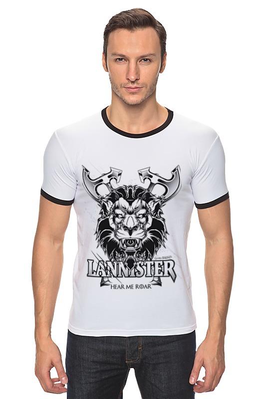 Футболка Рингер Printio Лев ланнистеров (игра престолов) футболка wearcraft premium printio игра престолов