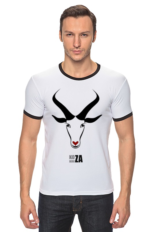 Футболка Рингер Printio Коза-дереза. символ 2015