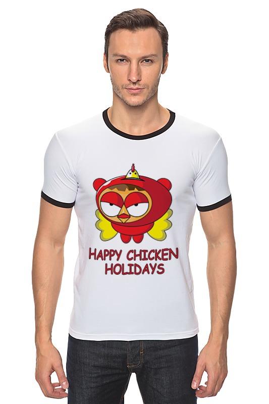Футболка Рингер Printio Happy chicken holidays поло print bar happy chicken holidays