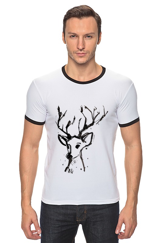 Футболка Рингер Printio Dear deer майка борцовка print bar dear deer