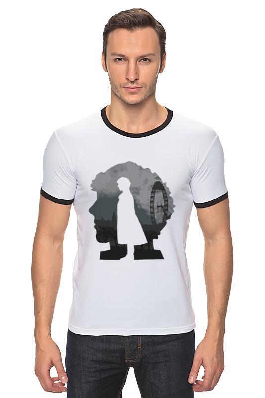 Футболка Рингер Printio Шерлок холмс (sherlock holmes) футболка с полной запечаткой для мальчиков printio шерлок холмс sherlock holmes