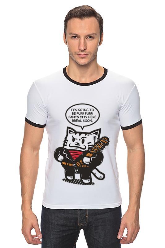 Футболка Рингер Printio Ниган - кот футболка рингер printio чёрный причёрный кот
