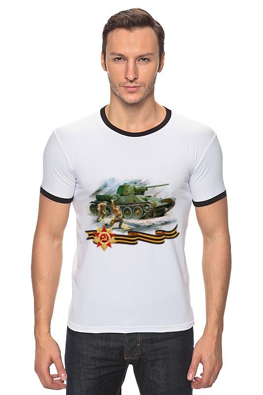Футболка Рингер Printio Танк и пехота игрушка танк