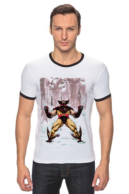 Футболка Рингер Printio Wolverine. marvel http