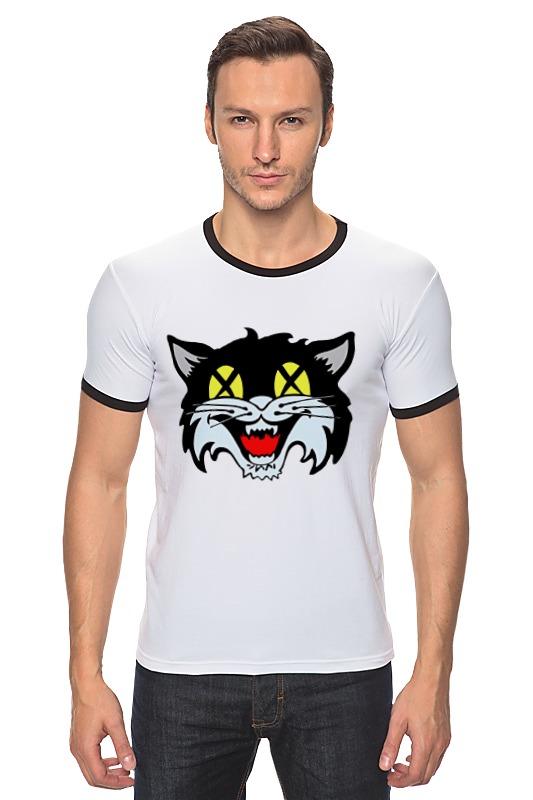 Футболка Рингер Printio Кот (cat)