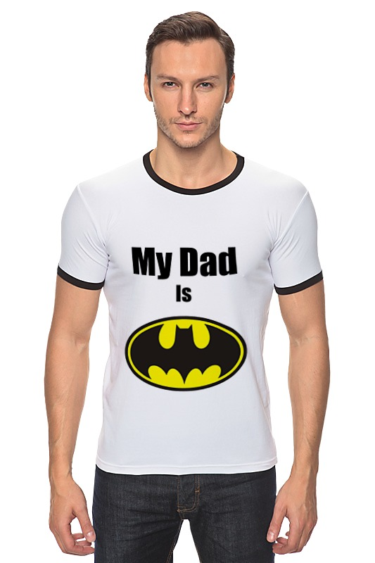 Футболка Рингер Printio My dad is batman just me and my dad little critter