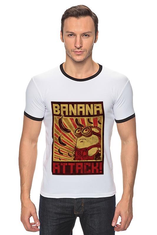 Футболка Рингер Printio Атака бананов кордщетка атака 26588