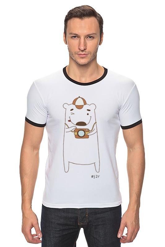 Футболка Рингер Printio Мишка бо фотограф футболка для беременных printio мишка me to you