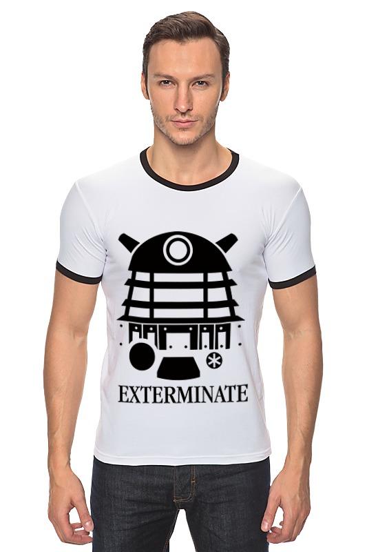 Футболка Рингер Printio Далек (доктор кто) футболка рингер printio доктор кто doctor who