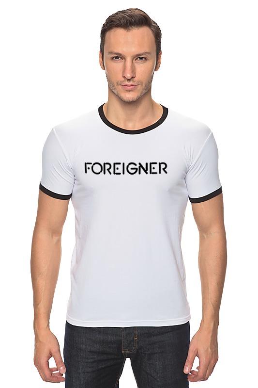 Фото Футболка Рингер Printio Foreigner foreigner foreigner alive