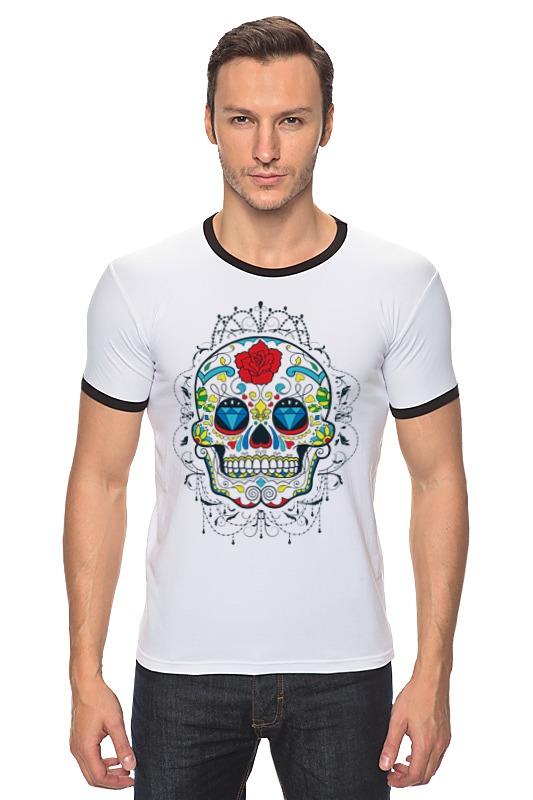 Футболка Рингер Printio Цветочный череп футболка рингер printio череп
