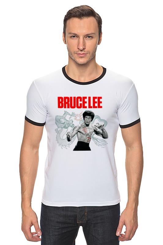 Футболка Рингер Printio Bruce lee who was bruce lee