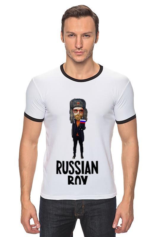 Футболка Рингер Printio Russian boy russian phrase book