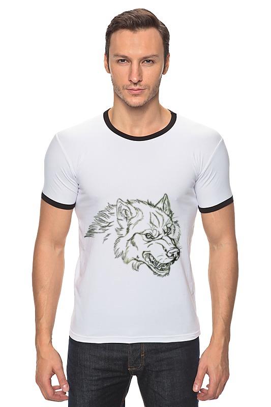 Футболка Рингер Printio Angry wolf толстовка