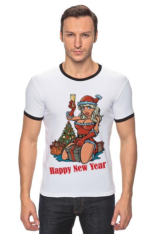 Футболка Рингер Printio Снегурочка поздравляет с новым годом! s s снегурочка